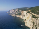 Coastline with Cliffs and Sea on Kefalonia, Ionian Islands, Greek Islands, Greece, Europe Photographic Print by Lightfoot Jeremy