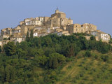Houses and Church of an Ancient Wine Town on a Hill at Loreto Aprutino in Abruzzi, Italy, Europe Photographic Print by Newton Michael