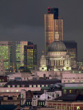 City Skyline Illuminated at Night, London, England, UK Photographic Print by Miller John