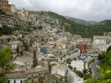 View over Ragusa Ibla, UNESCO World Heritage Site, Ragusa, Sicily, Italy, Europe Photographic Print by Levy Yadid