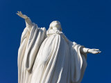 Statue of the Virgin Mary at Cerro San Cristobal Overlooking the City, Santiago, Chile Photographic Print by Gavin Hellier