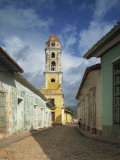 Tower of St. Francis of Assisi Convent and Church, Trinidad, Cuba, West Indies, Central America Photographic Print by Harding Robert