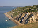 Alum Bay and the Solent, Isle of Wight, England, United Kingdom, Europe Reproduction photographique par Rainford Roy