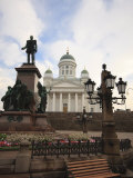 Alexander II Statue and Lutheran Cathedral in Senate Square, Helsinki, Finland, Scandinavia, Europe Photographic Print by Kelly Michael