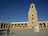 Great Mosque, Minaret and Courtyard, UNESCO World Heritage Site, Kairouan, Tunisia Photographic Print by Poole David