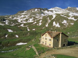 Vittorio Sella Mountain Hut, Valnontey Valley, Gran Paradiso National Park, Valle D&#39;Aosta, Italy Photographic Print by Maxwell Duncan