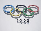 Olympic Rings, 1952 Olympic Stadium, Helsinki, Finland, Scandinavia, Europe Photographic Print by Kelly Michael