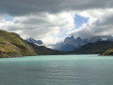 Two Towers Stand in Front of Rio Paine in Torres Del Paine National Park, Chile, South America Photographic Print by McCoy Aaron