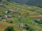 Fields, Farms and Houses in the Navia Valley, in Asturias, Spain, Europe Photographic Print by Maxwell Duncan