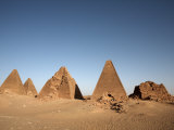 Pyramids at Jebel Barkal,, Karima, UNESCO World Heritage Site, Sudan Photographic Print by Mcconnell Andrew