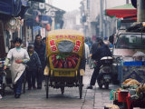 Decorated Tricycle Riding Through the Old Streets of Suzhou, Jiangsu Province, China Photographic Print by Kober Christian
