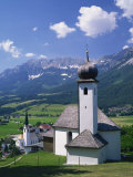 Churches of Ellmau, Tyrol Region, Austria, Europe Photographic Print by Rainford Roy