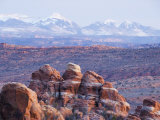 Fiery Furnace, and Mountains of Manti-La Sal National Forest, Arches National Park, Utah, USA Photographic Print by Kober Christian
