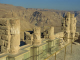 Ruined Winter Palace of King Herod on Top of the Fortress of Masada, Israel, Middle East Photographic Print by Simanor Eitan