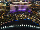 Aerial View of Belagio Hotel Casino on the Strip, Las Vegas, Nevada, USA Photographic Print by Kober Christian