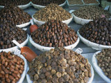 Figs and Dates for Sale in the Souk in the Medina, Fes El Bali, Morocco, North Africa, Africa Photographic Print by Morandi Bruno