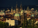 Stare Mesto District Including Tyn Church, Charles Bridge and Town Hall, Prague, Czech Republic Photographic Print by Gavin Hellier