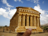 Concordia Temple at the Valley of Temples, Agrigento, UNESCO World Heritage Site, Sicily, Italy Photographic Print by Levy Yadid