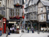 Half Timbered Houses in the Old Town of Dinan, Brittany, France, Europe Photographic Print by Levy Yadid