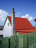 Private House with Red Corrugated Roof and Green Fence, Stanley, Capital of the Falkland Islands Photographic Print by Renner Geoff
