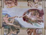 Michelangelo, the Creation of Adam in the Sistine Chapel, Vatican, Rome, Lazio, Italy, Europe Photographic Print by Rainford Roy