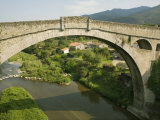 Devils Bridge and River Tech, Ceret, Vallespir, Languedoc-Roussillon, France, Europe Photographic Print by Richardson Rolf