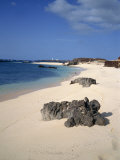 Rocks and Sand on the Beach at Georgetown on Ascension Island, Mid Atlantic Photographic Print by Renner Geoff