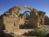 Byzantine Castle Dating from the 2nd Century AD, Destroyed in an Earthquake, Kato Paphos, Cyprus Photographic Print by Short Michael