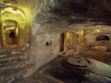 Interior of Christian Tombs in St. Pauls Catacombs on Malta, Europe Photographic Print by Woolfitt Adam