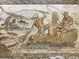 Roman Mosaic Dating from the 2 AD, from the Villa of the Nile at Leptis Magna, Tripoli, Libya Photographic Print by Rennie Christopher