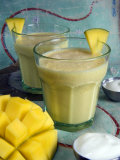Indian Food, Lassi, Mango Juice, India Photographic Print by Tondini Nico