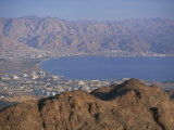 View over Gulf of Eilat, Eilat, Israel, Middle East Photographic Print by Simanor Eitan