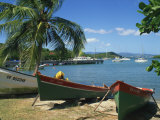 Fishing Boats Pulled Up onto the Beach at Trois Ilets Harbour, Martinique, West Indies Photographic Print by Richardson Rolf