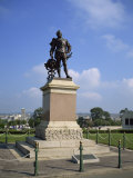 Statue of Sir Francis Drake, Plymouth Hoe, Plymouth, South Devon, Devon, England, United Kingdom Photographic Print by Rainford Roy