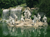 Cascade, Caserta La Reggia, UNESCO World Heritage Site, in Campania, Italy Photographic Print by Richardson Rolf