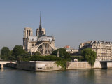 River Seine and Notre Dame Cathedral, Paris, France, Europe Photographic Print by Pitamitz Sergio