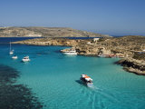 Aerial View of the Blue Lagoon, Comino Island, Malta, Mediterranean, Europe Photographic Print by Tondini Nico