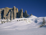 Passo Sella Near the Ski Resort of Val Gardena in the Val Di Fassa in the Dolomites, Italy Photographic Print by Teegan Tom