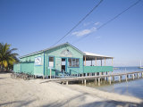 Rainbow Grill and Bar, Caye Caulker, Belize, Central America Photographic Print by Jane Sweeney