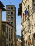 Via Dei Pileati and St. Maria Della Pieve's Belltower, Arezzo, Tuscany, Italy, Europe Photographic Print by Tondini Nico