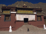 Exterior Steps and Entrance to Tsurpu Buddhist Monastery, Seat of the Karmapa, Nenang, Tibet, China Photographic Print by Alison Wright