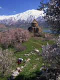 Armenian Church of the Holy Cross, on Akdamar Island, Beside Lake Van, Anatolia, Turkey Photographic Print by Woolfitt Adam