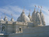 Detail from the Mandir Mahotsav Temple, a New Hindu Temple in Neasden, North London, England, UK Photographic Print by Richardson Rolf