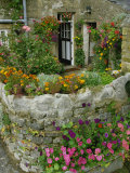 Detail of Cottage and Garden, Yorkshire, England, United Kingdom, Europe Photographic Print by Woolfitt Adam