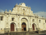 Cathedral Built in 1680, Antigua, UNESCO World Heritage Site, Guatemala, Central America Photographic Print by Rennie Christopher