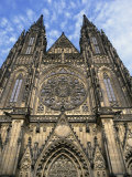 Facade of St. Vitus Cathedral, Prague, Czech Republic, Europe Photographic Print by Thorne Julia