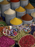 Spices in the Souks in the Medina, Marrakesh, Morroco, North Africa, Africa Photographic Print by De Mann Jean-Pierre