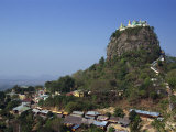 Temple of Mount Popa, Abode of Myanmar's Most Powerful Nats, Mount Popa, Myanmar Photographic Print by Alison Wright