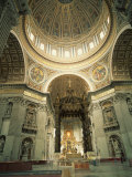 Interior of St.Peter's Basilica, the Vatican, Rome, Lazio, Italy, Europe Photographic Print by Richardson Rolf