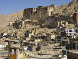 View of the Old City with Leh Palace in Background, Leh, Ladakh, India Photographic Print by Simanor Eitan